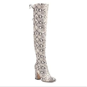 Unisa Snakeskin Over the Knee Boots